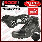 Puma Tornado BLACK 630797 Safety Work Boot. Zip Side. Scuff Cap Leather Comfort