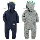 Baby Boy Carter's Dinosaur 3D Spikes Hooded Coverall 1pc Outfit 6 9 12 18 Month