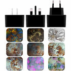 OFFICIAL ANDI GREYSCALE MYSTICAL BLACK EU CHARGER & USB CABLE FOR APPLE iPAD