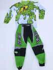 FOX RACING YOUTH MOTOCROSS PANTS GREEN with ONE INDUSTRIES SLIME JERSEY