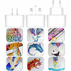 MARC ALLANTE ANIMALS WHITE EU CHARGER & MICRO-USB CABLE FOR BLACKBERRY PHONES