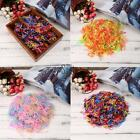 2000PCS Disposable Kids Hair Elastic Colorful Braided Styling Hair Tie T