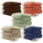 Biddeford Luxuriously Soft Micro Mink and Sherpa Electric Heated Throw Blanket