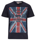 Lonsdale GLASGOW Union Jack T-Shirt Blue or White 100% Cotton Regular Fit L/XL