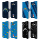 OFFICIAL NFL 2017/18 LOS ANGELES CHARGERS LEATHER BOOK CASE FOR SAMSUNG PHONES 2