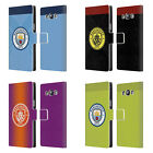 MAN CITY FC BADGE KIT 2016/17 LEATHER BOOK WALLET CASE FOR SAMSUNG PHONES 3