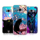 HEAD CASE DESIGNS CATS AND BLOSSOMS SOFT GEL CASE FOR SAMSUNG PHONES 1