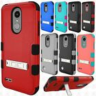 For LG Tribute Dynasty IMPACT TUFF IMPACT HYBRID KICKSTAND Cover +Screen Guard