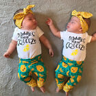 USA Stock Newborn Baby Girls Cotton Romper Pants Leggings Outfits Set Clothes