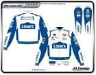 NASCAR JIMMIE JOHNSON LOWES Car Racing WHITE BLUE Cotton Twill JACKET L XL 2XL