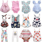 Baby - US Newborn Baby Girls Floral Romper Bodysuit Jumpsuit Outfits Sunsuit Clothes