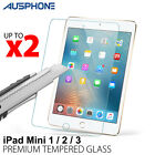 2x Scratch Resist Tempered Glass Screen Protector Guard for Apple iPad Mini1 2 3