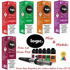Logic LQD E Liquid Vape 10ml Tobacco Menthol Berry Mint Mix Packs of 1, 3 & 5 UK