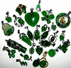 LARGE SELECTION OF GREEN JADE NECKLACES FROG BUTTERFLY CROSS TURTLE GIFT IDEA