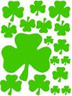 Mixed Shamrock Stickers, St Patricks Day, Lots of colours available !