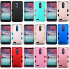 For ZTE Grand X Max 2 / Kirk Hybrid TUFF Rubber Hard Protective Cover Case
