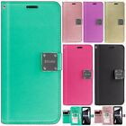 For LG G6 Premium Flip Out Pocket Wallet Case Pouch Cover +Screen Protector
