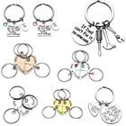 Women's Metal Silver Heart Puzzle Best Friend Forever Dad Keychain Key Ring Gift