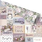 Prima Marketing Lavender Gold Foiled Double-Sided Cardstock 12