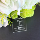 Free Personalised Engraved Clear  Acrylic Wedding Gift Tags,Rustic,Thank you tag