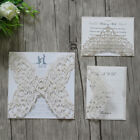 Personalized Ivory Luxury Wedding Invitations/rsvp/wish well cards-Free print