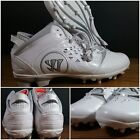 Внешний вид - NEW Warrior Adonis Men's Lacrosse Cleats White/Grey Mens Size 13