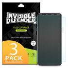 Galaxy S9 Plus Screen Protector, Invisible Defender [Full Coverage][3-Pack] Film