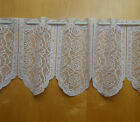 White Kitchen Cafe Net Curtain ROSES Pattern Sold by the metre