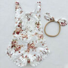 Baby - Newborn Kid Baby Girl Floral Clothes Jumpsuit Romper Bodysuit Sunsuit Outfit Set