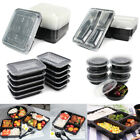 20x Lunch Box Microwave Safe Plastic Meal Prep Container Food Storage Takeaway