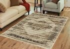 Contemporary BROWN Mirage Collection Area Rug by Benissimo Soft, Durable & Clean