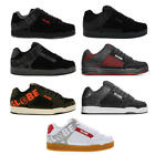 Globe Tilt Mens Black White Nubuck Leather Skate Trainers Shoes Size 8-13