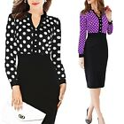 Slimming Cocktail Rockabilly Shirt Womens Party Ladies Casual Dress UK sz 6-18