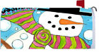 Whimsical Winter Snowman Snowball Mailbox Wrap Cover