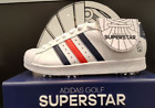 Adidas Mens Golf Shoes 2017 SuperStar DA8824 6-Spikes Replacable FedEx White+Red