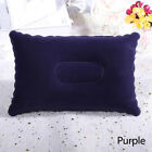 Double Sided Folding Flocking Cushion Air Inflatable Pillow Outdoor Travel
