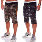 Men's Exercise Activewear Pants Lace Up Slim Gym Jogging Casual Trousers Shorts