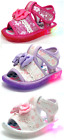 New Adorable Baby Toddler Girls Light Up Sandals Shoes 3 Colors Size 3-4-5-6-7-8