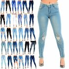 Ladies Womens Whiskers Hem Faded Ripped Slim Skinny Fit Fray