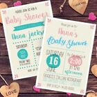 Gender neutral baby shower invites, personalised and professional print