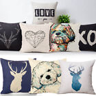 "18"" Linen Cotton Square Pillow Case Car Bed Waist Cushion Throw Cover Home Decor"