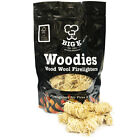 Natural Wood Wool Firelighters Wax Long Lasting For Open Fires BBQ Log Burner