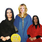 Womens Cosy Shoulder Shawls: 3 Colour (Ladies Blanket Style Pocket Jumper Scarf)