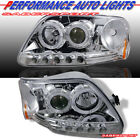 Pair Halo Projector Headlights w/ LED for 1997.8-2003 F-150 / 97-02 Expedition