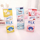 Creative Milk School Pencil Case Cute PU Leather Pen Bag Kaw