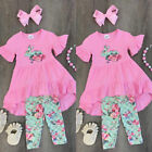 USA Kids Baby Girls Easter Tops Blouse Dress Pants Leggings