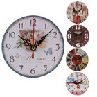 Vintage Style Non-Ticking Silent Antique Wood Wall Clock for Kitchen Office H-66