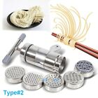 New Pasta Maker 7 Noodle Making Machine Dough Cutter Roller w Handle 2 TYPES