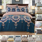 Printed Floral Duvet Quilt Cover Bedding Set Twin Queen King With Pillow Case image