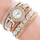 Gift Rhinestone watches women Ladies Crystal Quartz Bracelet Bangle Wrist Watch image